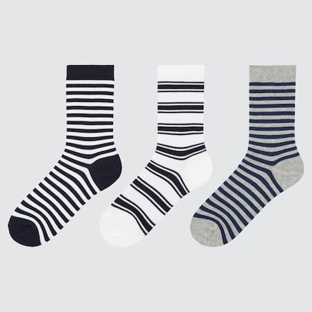 Kids Regular Striped Socks (Three Pairs)
