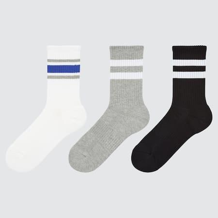 Kids Regular Line Print Socks (Three Pairs)