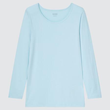Kids HEATTECH Scoop Neck Long Sleeved T-Shirt