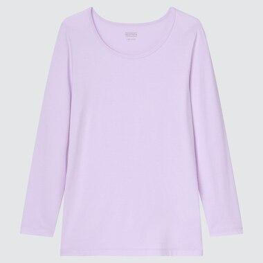 KIDS HEATTECH SCOOP NECK LONG-SLEEVE T-SHIRT