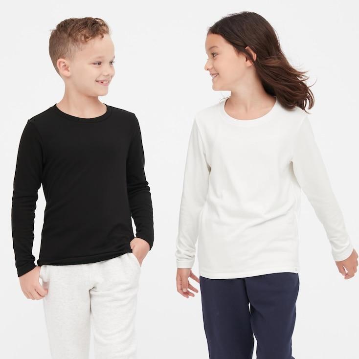 KIDS HEATTECH ULTRA WARM CREW NECK LONG-SLEEVE T-SHIRT