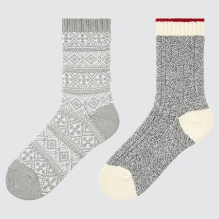 Kids HEATTECH Cable Knit Socks