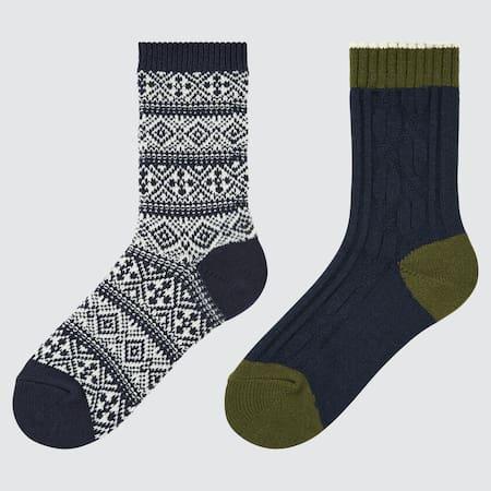 Kinder HEATTECH Zopfstrick Socken (2 Paar)