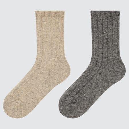 Kinder Gerippte HEATTECH Socken (2 Paar)