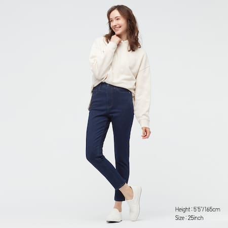 Damen High Waisted Jeans in 7/8-Länge (Skinny Fit)