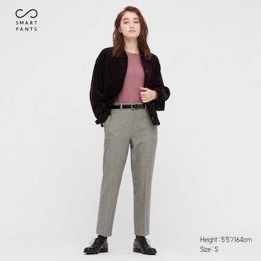 WOMEN SMART 2-WAY STRETCH BRUSHED ANKLE-LENGTH PANTS