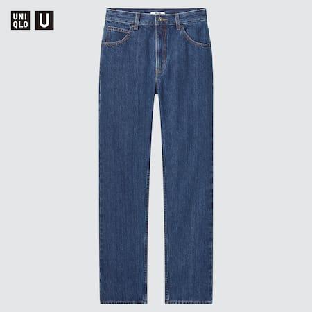 Women Uniqlo U High Rise Regular Fit Straight Leg Jeans