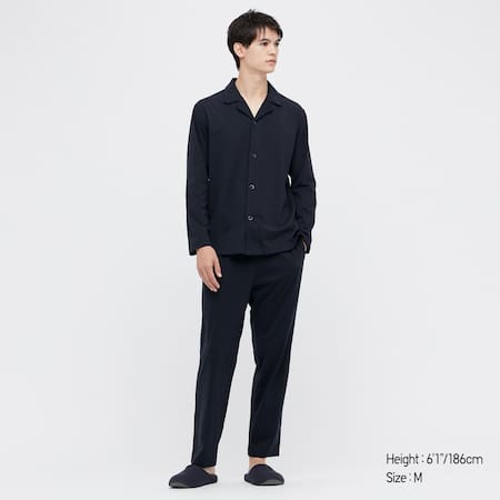 Men AIRism Cotton Long Sleeved Pyjamas