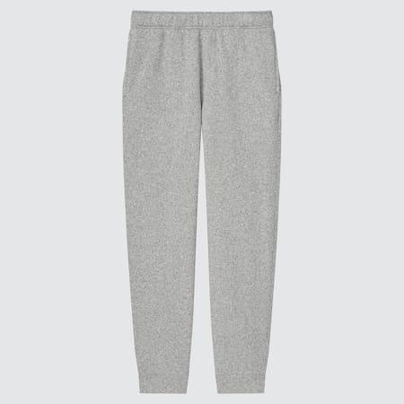 Men Fleece Knit Easy Ankle Length Trousers