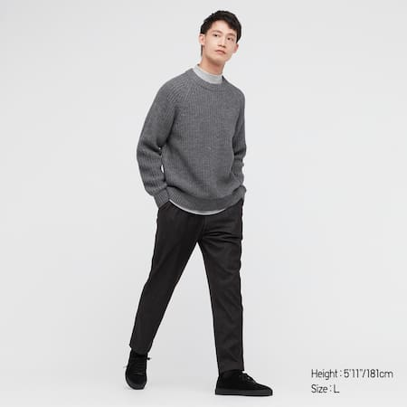 Men Jersey Relaxed Ankle Length Trousers