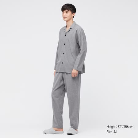 Men Flannel Long Sleeved Pyjamas