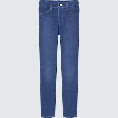 Kinder Ultra Stretch Leggings in Denimoptik