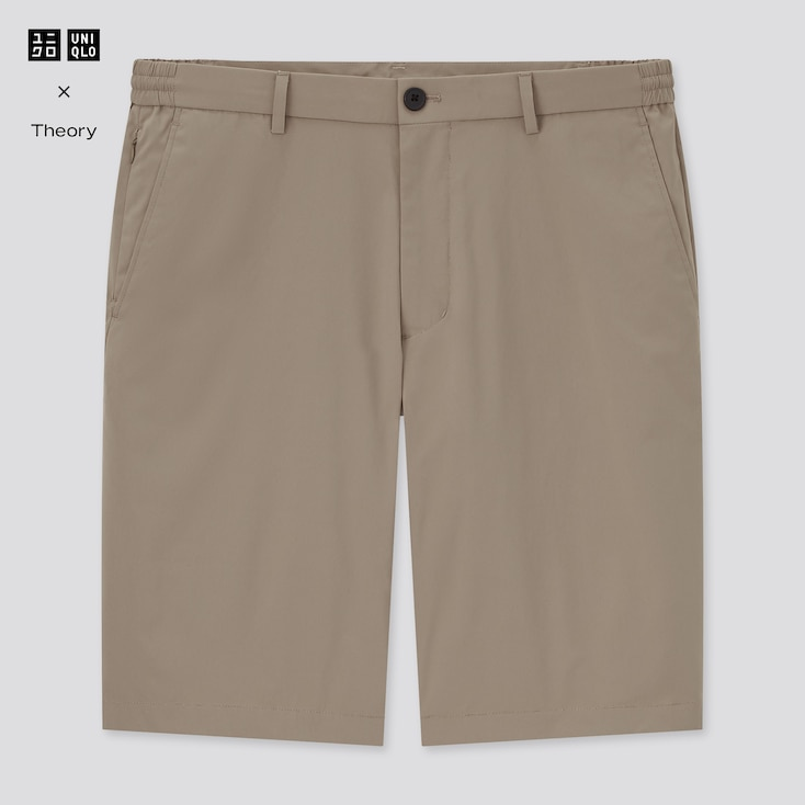 Men Ultra Light Relaxed Fit Shorts (Theory), Beige, Large