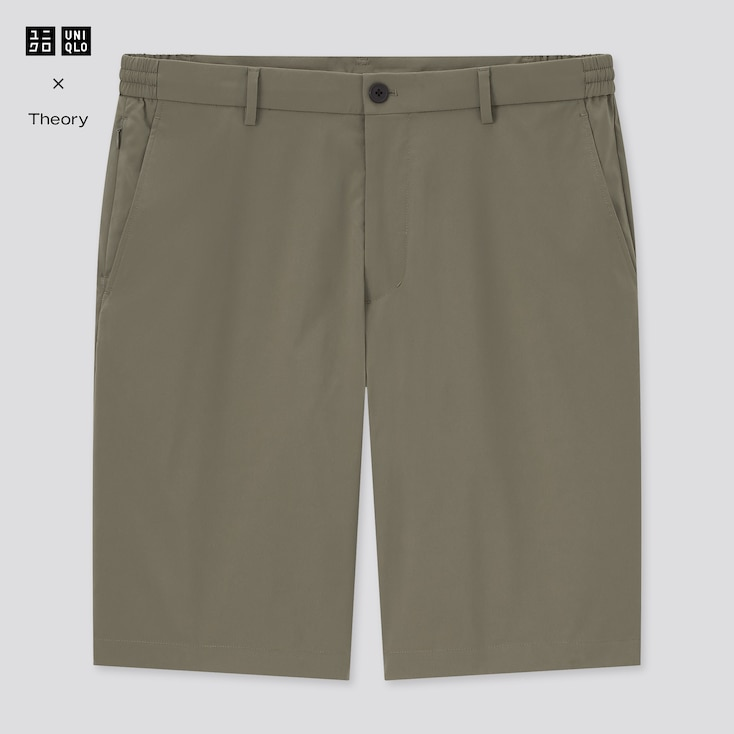 Men Ultra Light Relaxed Fit Shorts (Theory), Olive, Large