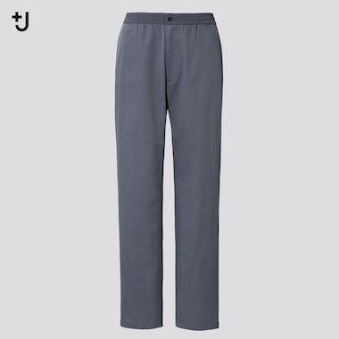 Men +J Wide-Fit Relaxed Tapered Pants, Gray, Medium