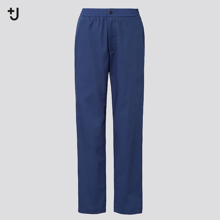 Men +J Wide-Fit Relaxed Tapered Pants, Blue, Large