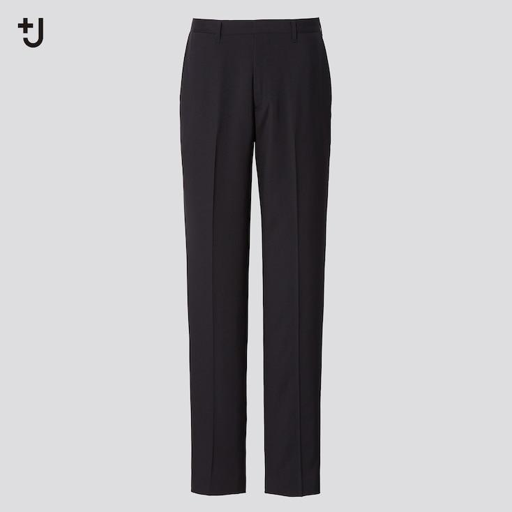 Men +J Wool Slim-Fit Pants, Black, Large