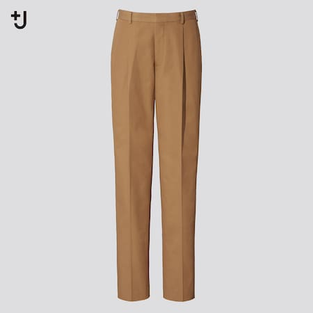 Men +J Pleated Tapered Fit Trousers
