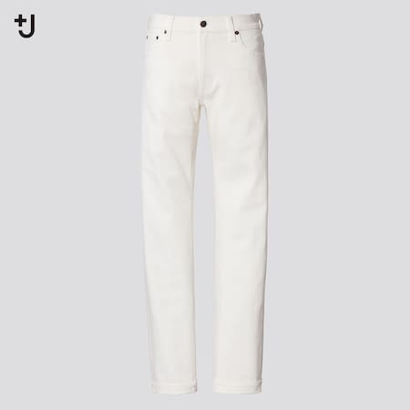 Men +J Selvedge Slim Fit Straight Leg Jeans