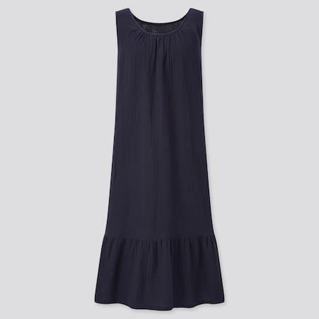 Women 100% Cotton Sleeveless Dress