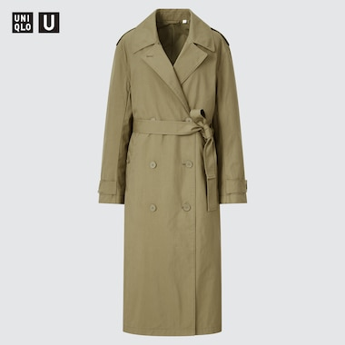 WOMEN U DOUBLE-BREASTED TRENCH COAT