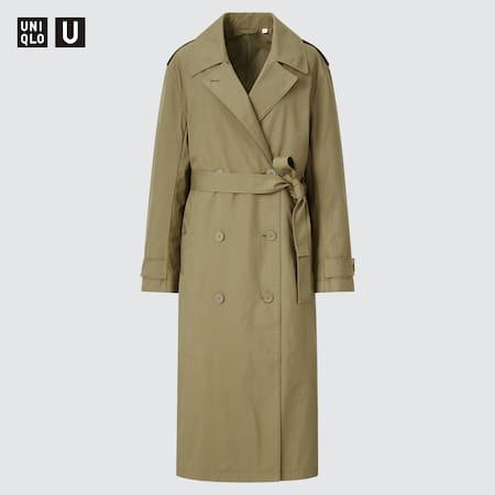 Women Uniqlo U Double Breasted Trench Coat