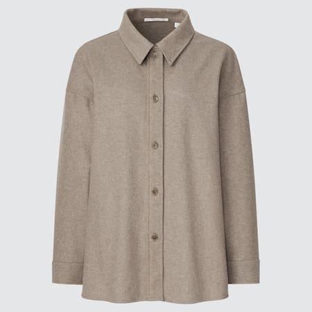 Women Brushed Jersey Shirt Jacket