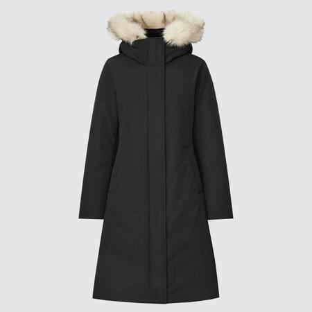 Women Ultra Warm Hybrid Down Long Coat