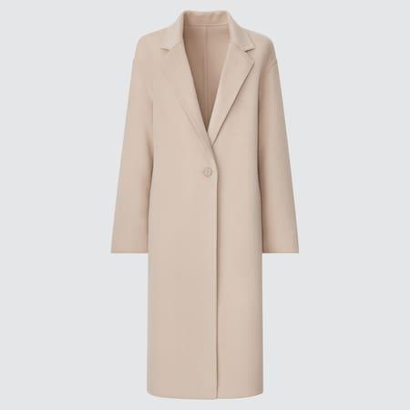 WOMEN Wool Blend Chester Long Coat