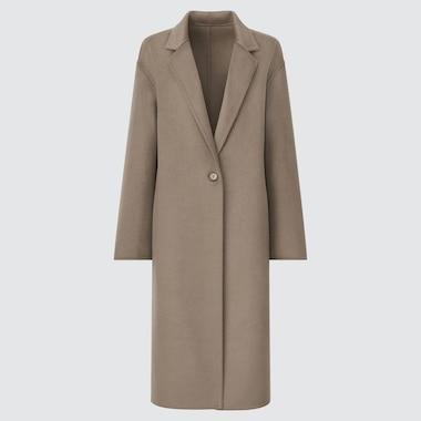 WOMEN DOUBLE FACE CHESTER LONG COAT