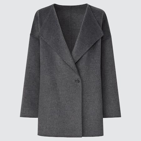 WOMEN Wool Blend Short Coat
