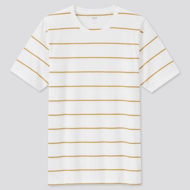 Men 100% Supima Cotton Striped Crew Neck T-Shirt