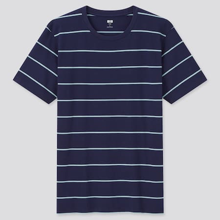 Herren Gestreiftes SUPIMA BAUMWOLLE T-Shirt