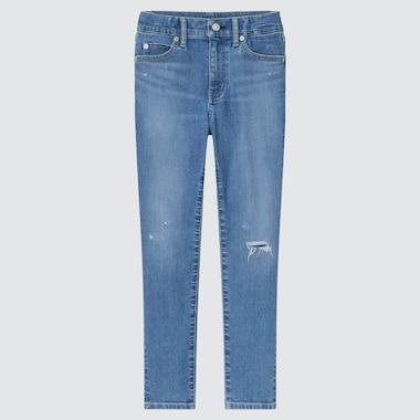Kids Ultra Stretch Denim Zip-Fly Slim-Fit Pants, Blue, Medium