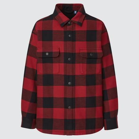 Kids Flannel Pile Lined Shirt Jacket