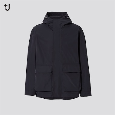 Men +J Oversized Mountain Parka, Black, Medium