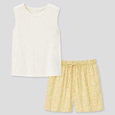 Women Slub Cotton Set (Sleeveless)