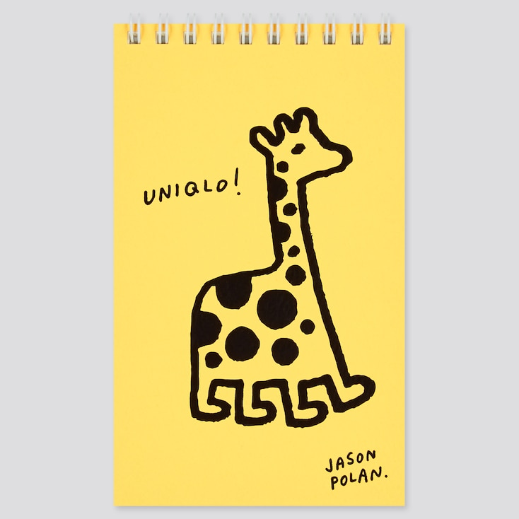 Jason Polan Ring-Bound Notebook, Yellow, Large