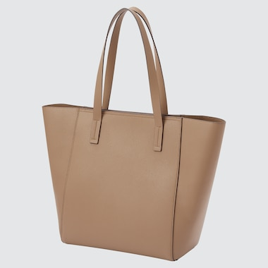WOMEN FAUX LEATHER BOAT TOTE BAG