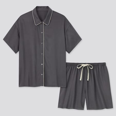 Women Satin Short Sleeved Pyjamas
