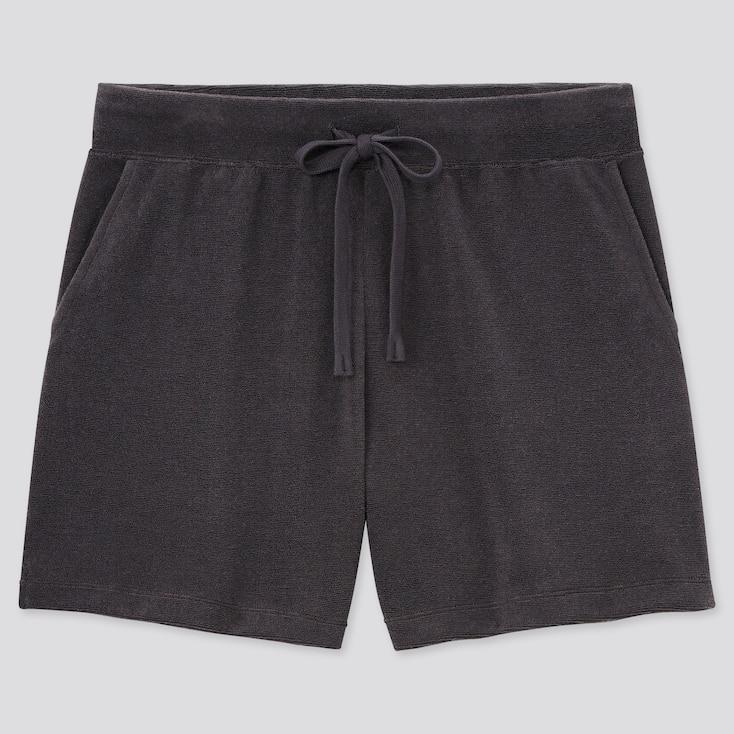 Women Airism Pile Shorts, Dark Gray, Large