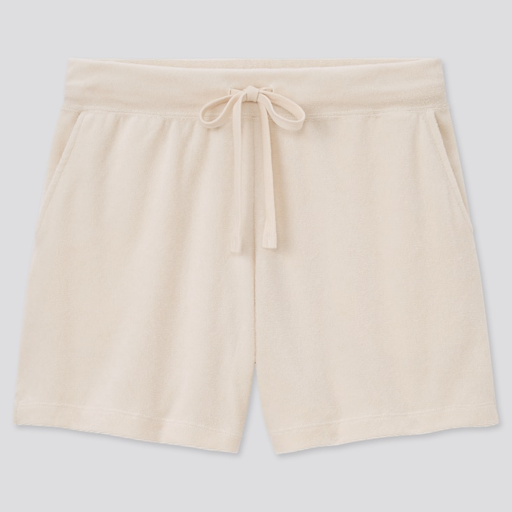 Women Airism Pile Shorts, Natural, Large