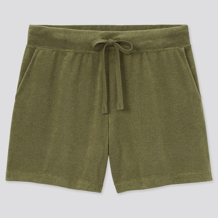 Women Airism Pile Shorts, Green, Large