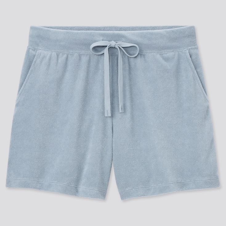 Women Airism Pile Shorts, Blue, Large