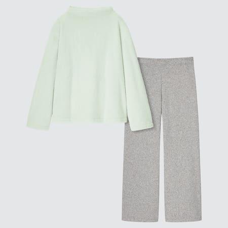 Women Fluffy Fleece Long Sleeved Set