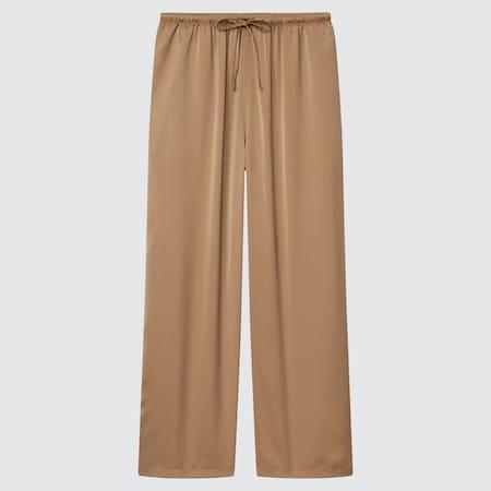 Damen Satin Drape Hose (Straight Fit)