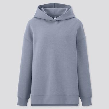Damen Doubleface Sweatshirt mit Kapuze mit Stretch