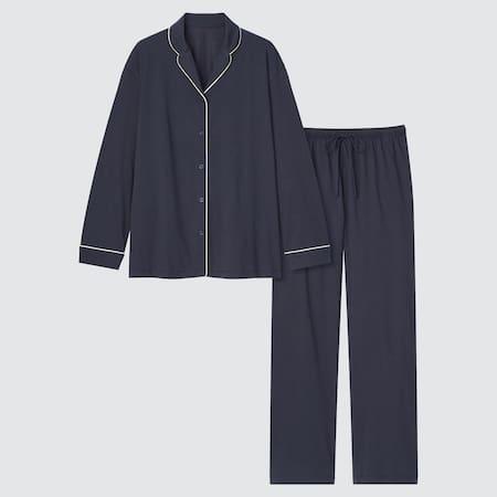 Women AIRism Cotton Long Sleeved Pyjamas