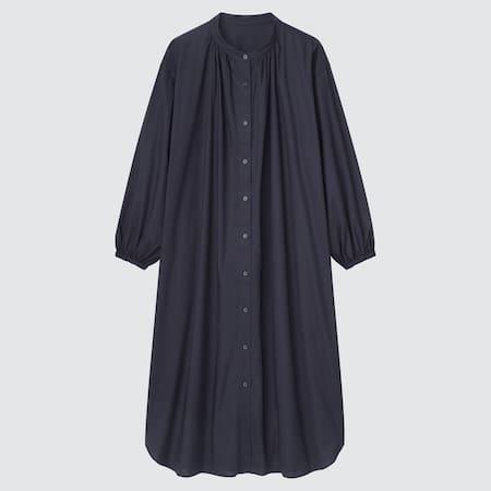 Women Soft Stretch Long Sleeved Pyjama Dress