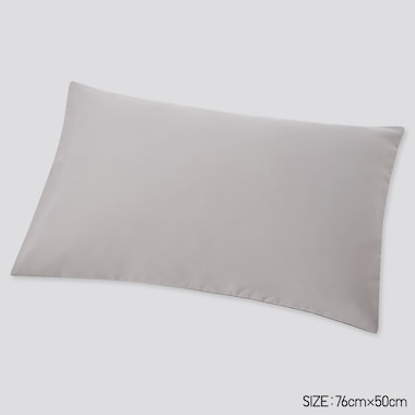 Airism Queen Size Pillowcase, Gray, Medium